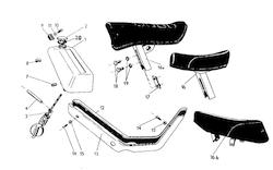 Kryty, sedadlo, nádrž