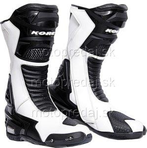 Topánky na motorku Kore Sport čierno-biele