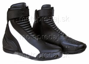 Moto topánky Kore Short Šport čierno-biele